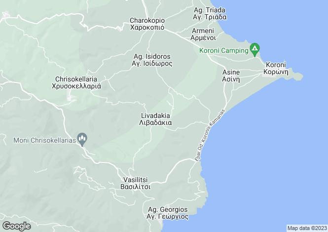 Map for Koroni, Messinia, Peloponnese