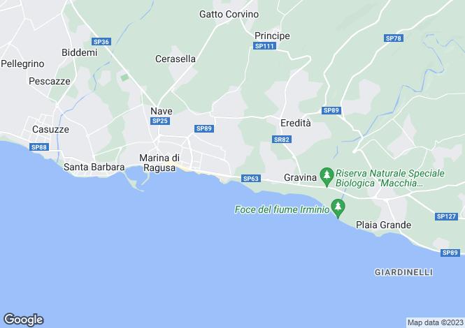 Map for Marina di Ragusa, Ragusa, Sicily
