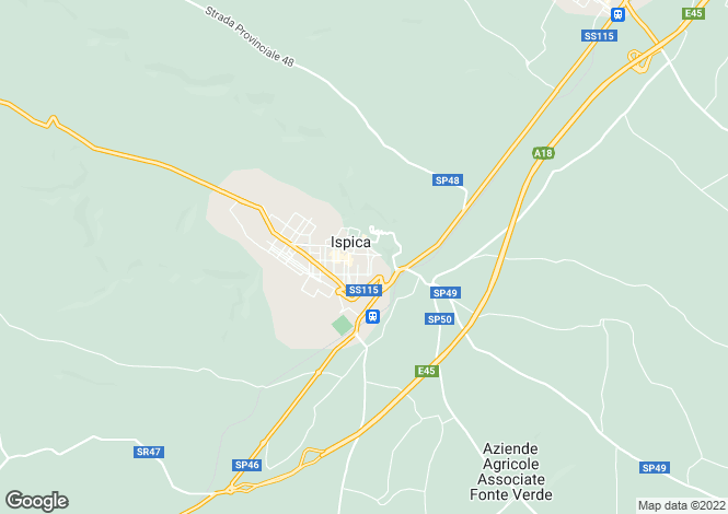 Map for Sicily, Ragusa, Ispica