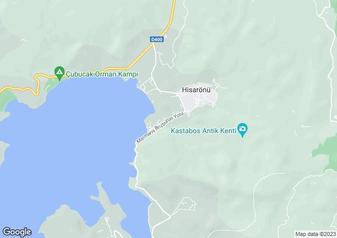 Map for Hisarönü, Mugla