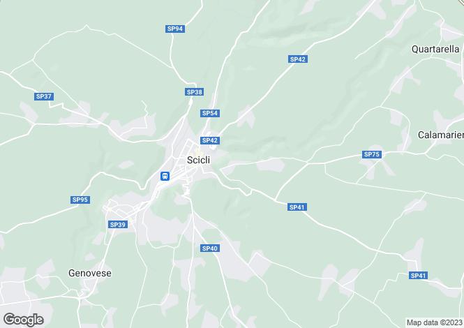 Map for Scicli, Ragusa, Sicily