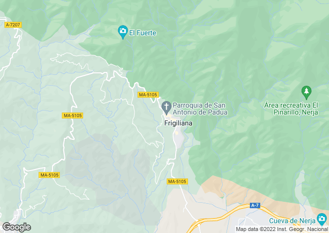 Map for Frigiliana, Málaga, Andalusia