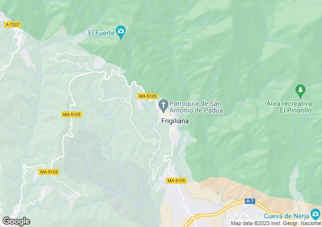 Map for Spain - Andalusia, Malaga, Frigiliana
