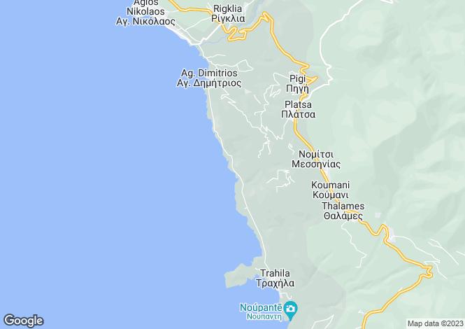 Map for Messenian Mani, Messinia, Peloponnese