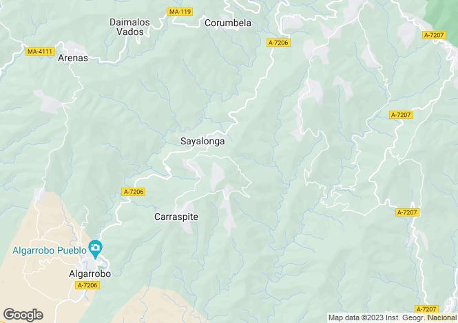 Map for Andalusia, Malaga, Sayalonga