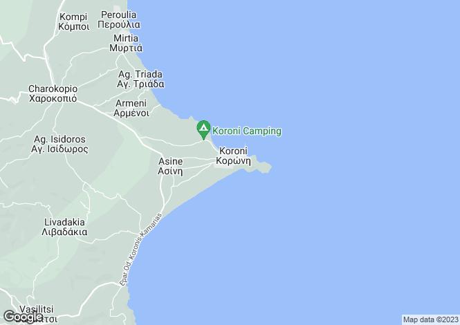 Map for Peloponnese, Messinia, Koroni