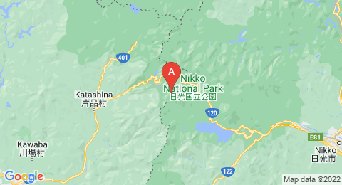map of Mount Nikko-Shirane (Japan)