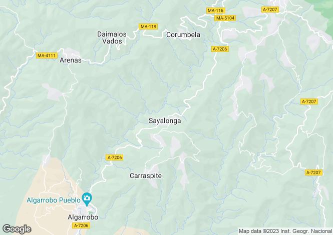 Map for Andalucia, Malaga, Sayalonga