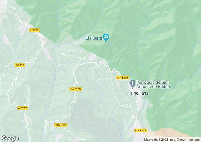 Map for Andalucia, Malaga, Frigiliana