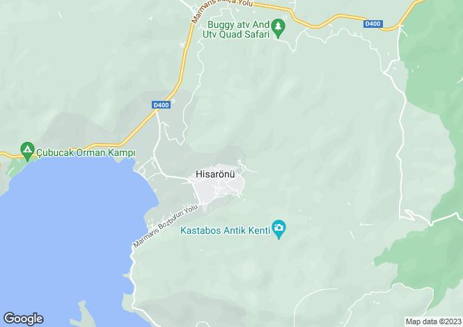 Map for Hisaronu, Fethiye, Mugla