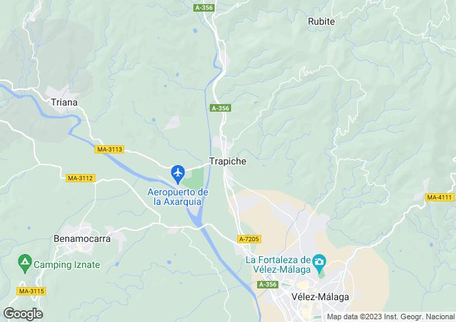 Map for Andalusia, Malaga, Trapiche