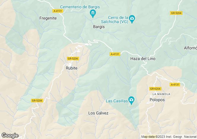Map for Rubite,Málaga