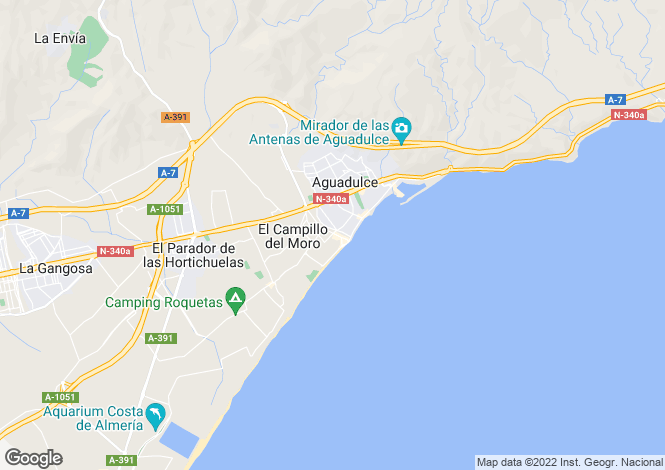 Map for Aguadulce, Almería, Andalusia