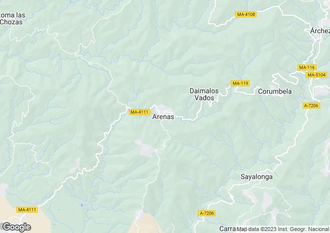 Map for Andalucia, Malaga, Arenas De Velez