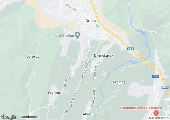 Map for Ortaca, Ortaca, Mugla