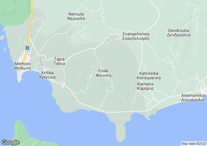 Map for Finiki, Messinia, Peloponnese