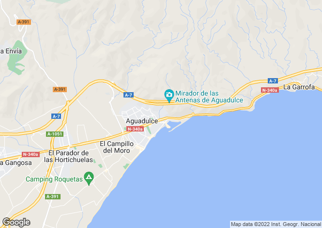 Map for Andalucia, Almería, Aguadulce
