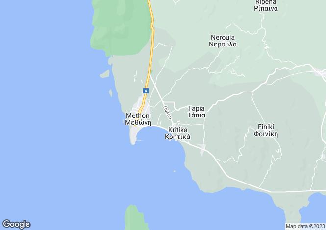 Map for Methoni, Messinia, Peloponnese
