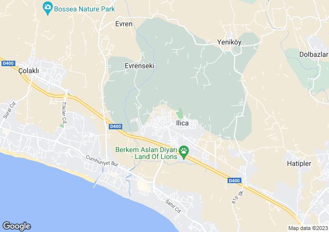 Map for Side, Antalya,  Turkey