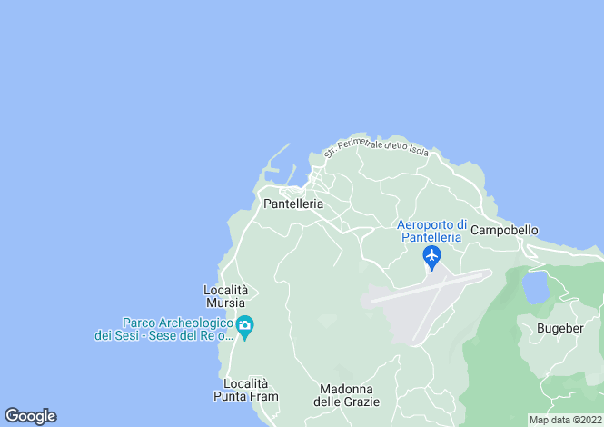 Map for Pantelleria, Trapani, Sicily