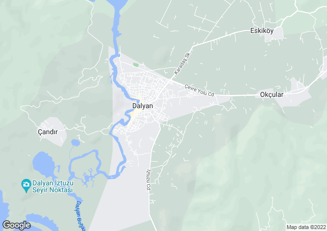 Map for Mugla, Ortaca, Dalyan
