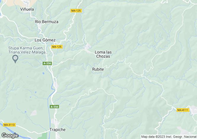 Map for Andalucia, Malaga, Rubite