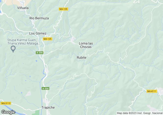 Map for Rubite, Málaga, Andalusia