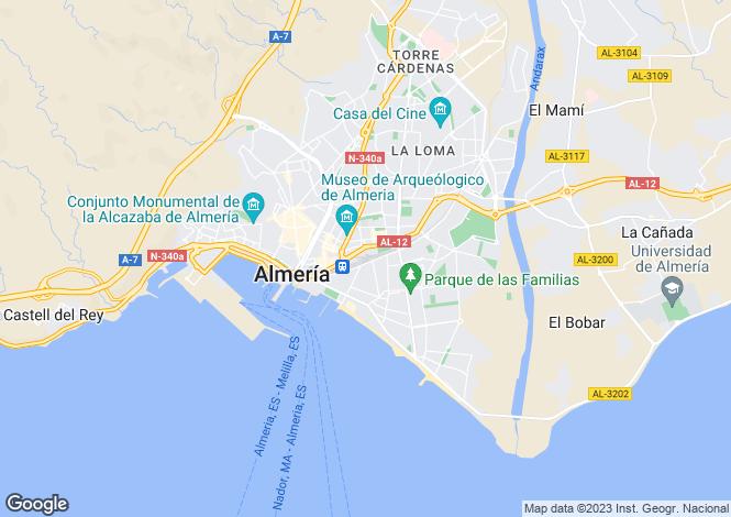 Map for Almería, Almería, Andalusia