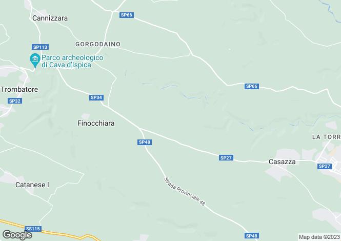 Map for Modica, Ragusa, Sicily