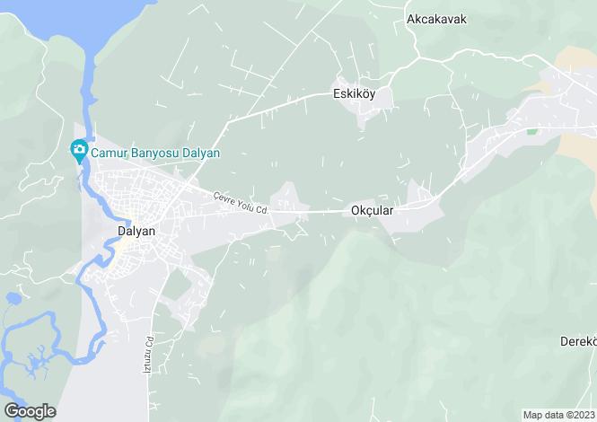 Map for Dalyan, Ortaca, Mugla