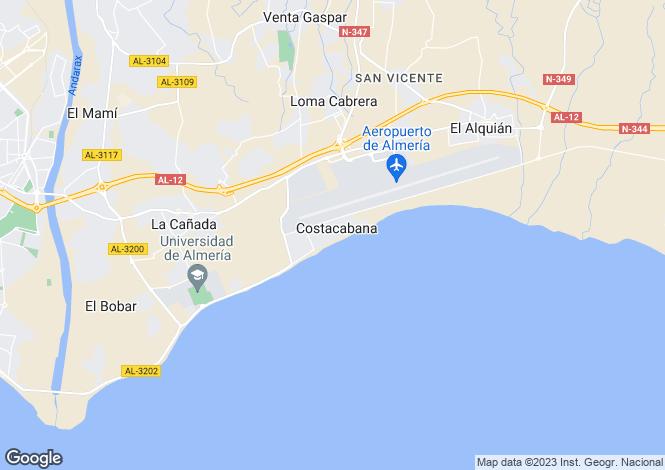 Map for Andalucia, Almería, Almería
