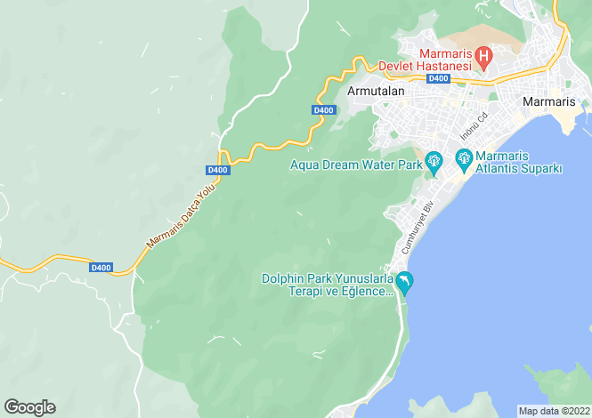 Map for Armutalani, Marmaris, Mugla