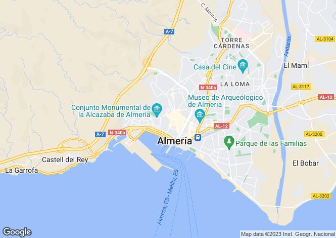Map for Almeria, Spain