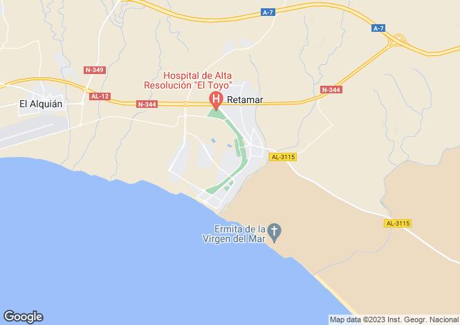 Map for Retamar, Almería, Andalusia