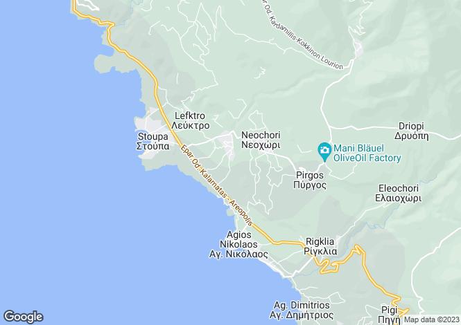 Map for Kardamyli, Messinia, Peloponnese