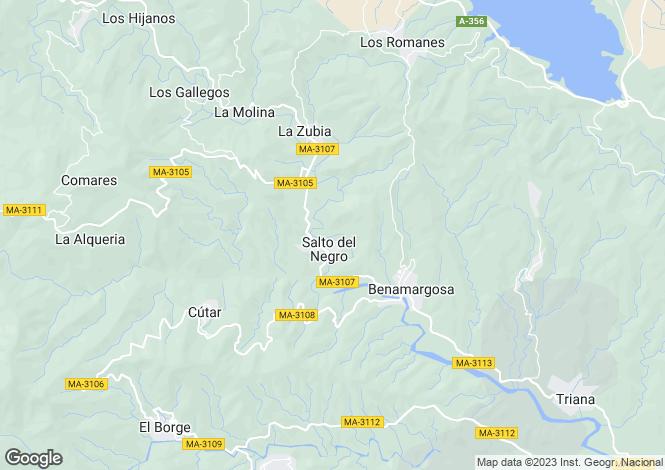Map for Andalusia, Malaga, Benamargosa
