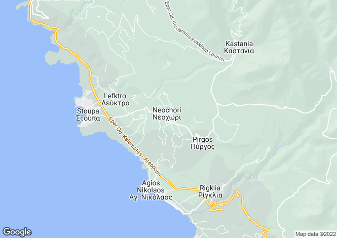 Map for Kardamyli, Messinia, Peloponnese