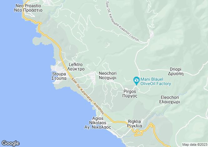 Map for Peloponnese, Messinia, Messenian Mani