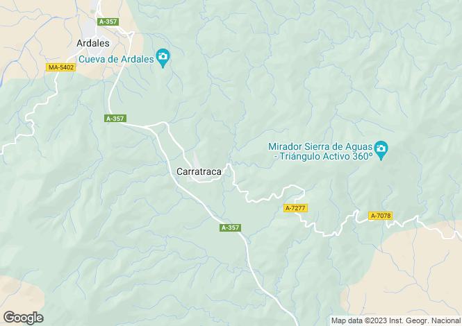 Map for Carratraca, Málaga, Andalusia