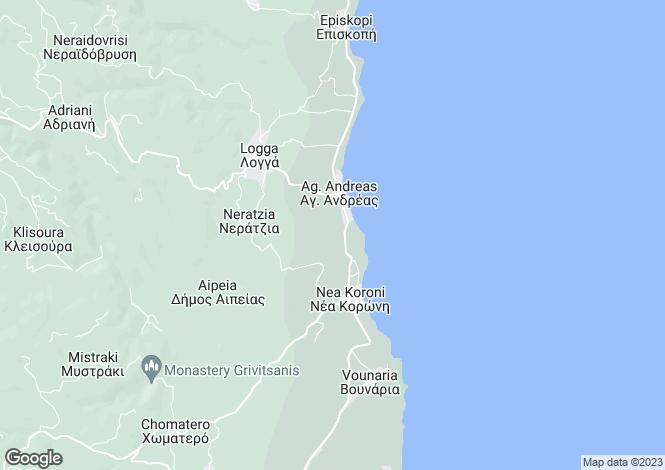 Map for Peloponnese, Messinia, Nea Koroni