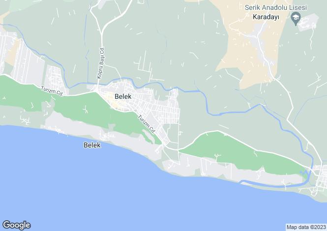 Map for Antalya, Antalya, Belek