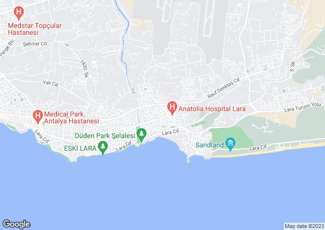 Map for Antalya, Antalya, Lara