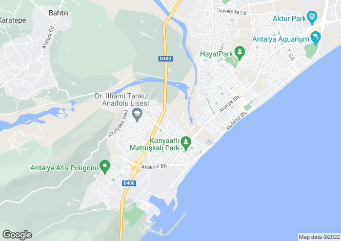 Map for Antalya, Antalya,  Turkey