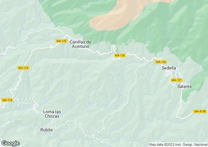 Map for Canillas de Aceituno, Málaga, Andalusia