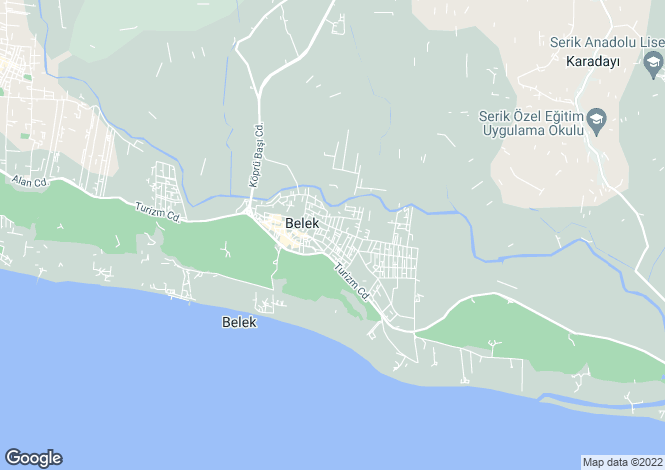 Map for Belek, Antalya, Antalya