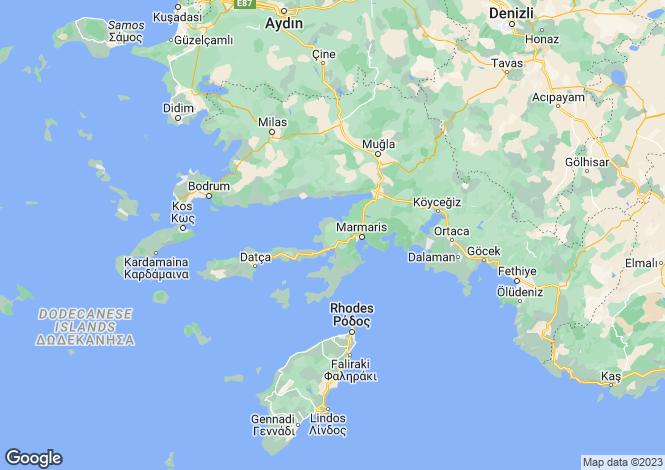 Map for Armutalani, Marmaris, Mugla