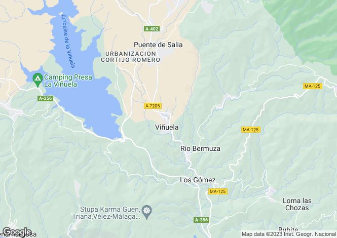 Map for Andalucia, Malaga, Vinuela