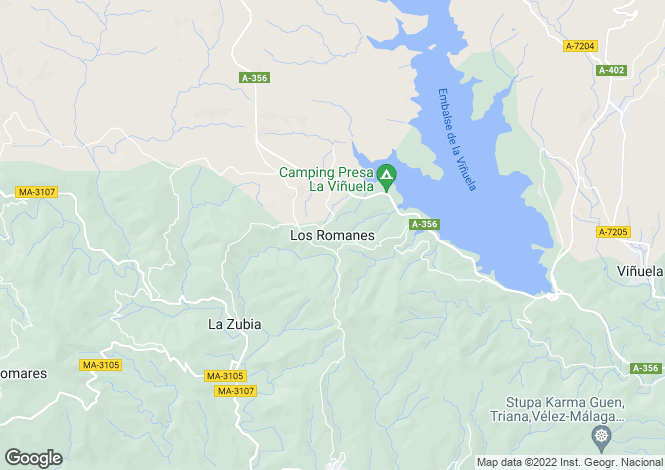Map for Andalusia, Malaga, Los Romanes