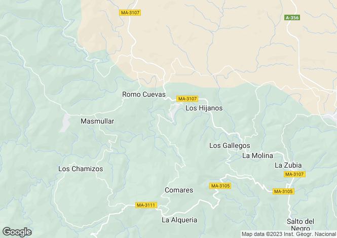 Map for Andalucia, Malaga, Comares