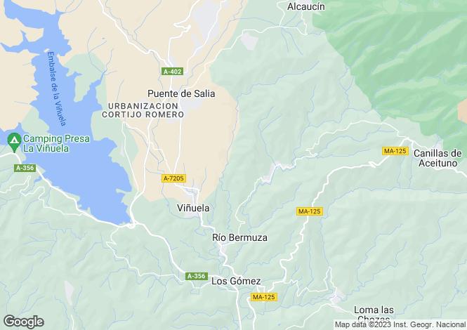 Map for Andalucia, Malaga, Canillas de Aceituno